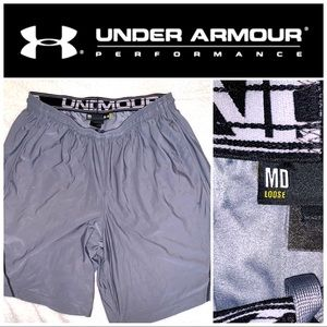 Medium Under Armour Gray-Black Athletic Shorts
